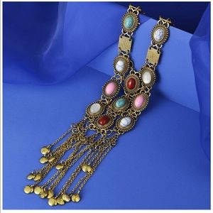 Costume Vintage Gold Necklace.  New.